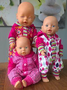 Vera Poppenmode: Home Baby Dress Patterns, Baby Clothes Patterns, Sewing Patterns Girls, Sewing Doll Clothes, American Doll Clothes, Sewing Dolls, Girl Dolls, Baby Dolls, Reborn Dolls