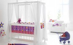Camerette per neonati con baldacchino