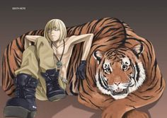 Death Note Mello... and a tiger. Not sure why this exists, but... Go Mello!