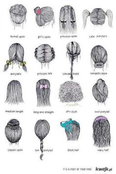 Trudniejsze rysowanie włosów.