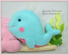 Peixe feltro (felt fish) | Gracinhas Artesanato