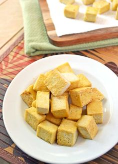 Ultra Crispy Unfried Tofu. 3 steps to cook firm, crispy tofu that tastes deep fried but isn't!