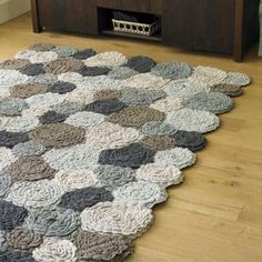 Crochet Flower Rug - I want to make this!