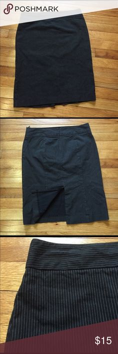 Gap Stretch Khaki Pencil Skirt Black with white pinstripes. Perfect condition. GAP Skirts Pencil