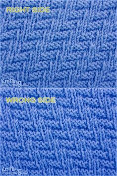 Knit and Purl Stitch Combinations