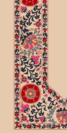 Islamic Art Pattern, Pattern Art, Pattern Design, Textile Patterns, Textile Prints, Print Patterns, Flower Embroidery Designs, Embroidery Patterns, Flower Art Images