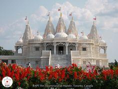 BAPS Shri Swaminarayan Mandir, Toronto, Canada Krishna Mandir, Hindu Mandir, Krishna Temple, Hindu Temple, Indian Temple, Indian Wedding Venue, Wedding Venues, Toronto Photos, Northern California