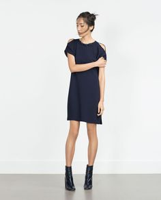 DRESS WITH NECKLACE NECKLINE-Mini-Dresses-WOMAN | ZARA United States