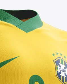Football Kit With V-Neck T-Shirt Mockup / Half-Turned View. Preview (Close-Up)