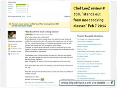 "Chef LeeZ review # 300 ""stands out from most cooking schools"" Clipped from www.tripadvisor.com"