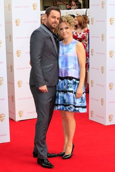 Pin for Later: See All the Stars Arriving at the 2015 BAFTA Television Awards Danny Dyer and Kellie Bright