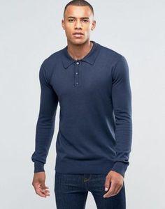 Brave Soul Long Sleeve Polo Shirt