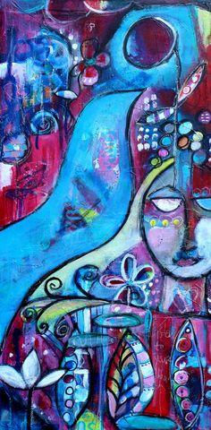 Abstract Bird Graffiti Art