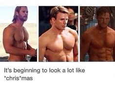 Chris Hemsworth, Chris Evans, Chris Pratt