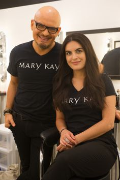 Episode 10: Celebrity makeup artists Luis Casco and Virginia Linzee are all smiles in the Mary Kay Color Design Studio! #PRAllStars