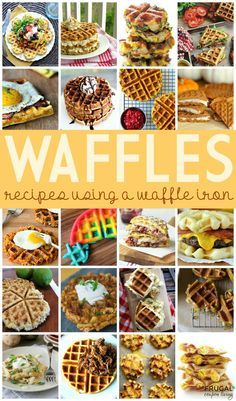 healthy food recipes chiken dinner cooking Easy to do Waffle Iron Recipes (outside the box and in the iron) - check out these creative Waffle Ideas for anytime of day on Frugal Coupon Living. Breakfast Waffles, Pancakes And Waffles, Making Waffles, Savory Waffles, Breakfast Sandwiches, Breakfast Bowls, Food Trucks, Brunch Recipes, Breakfast Recipes