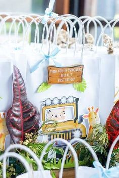 Check out this cool modern safari 1st birthday party! The party favor bags are fab!! See more party ideas and share yours at CatchMyParty.com Safari Party Favors, Safari Birthday Party, Jungle Party, Jungle Safari, Animal Birthday, Party Favor Bags, Birthday Party Favors, 1st Birthday Parties, Boy Birthday