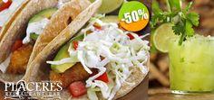 Placeres Restaurant Bar en Mezcales - $43 en lugar de $86 por 2 Deliciosos Tacos de Pescado + 1 Margarita de Cilantro Chica ó 1 Limonada Click http://cupocity.com/