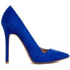 ASOS PENSIVE Pointed High Heels ($24) ❤ liked on Polyvore featuring shoes, pumps, heels, high heels, sapatos, blue, blue pumps, heels & pumps, pointy high heel pumps and pointed heel pumps