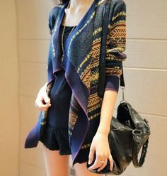 Cheapest Sweaters Fashion Loose Irregular Joker Sweater Knit Shirt As The Pictuer