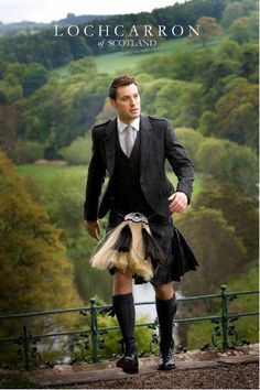 Tartan kilt by Lochcarron of Scotland, one of the mills located in the Scottish Border country