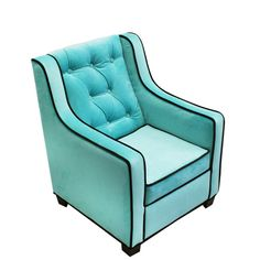 Aqua And Choco Tween Grand Chair Komfy Kings, Inc Chairs Kids Furniture Childrens