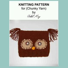 Pedr Owl Bird Hat Knitting Pattern
