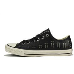 Converse for Women CT Ox Stud Black Silver Sneaker ❤ liked on Polyvore featuring shoes, sneakers, converse shoes, converse sneakers, converse trainers, black and silver shoes and black silver shoes