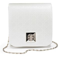 Mini Structured Shoulder Bag ($21) ❤ liked on Polyvore featuring bags, handbags, shoulder bags, clasp purse, mini purse, mini shoulder bag, structured purse and chain handle handbags