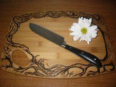 Artisan Pyrographed Bamboo Cutting Board by EnchantingTheFlame, $70.00