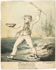 Invade us boys! (caricature) - National Maritime Museum