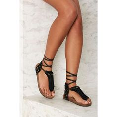 Sam Edelman Kyra Fringe Gladiator Sandal ( 120) ❤ liked on Polyvore  featuring shoes fd190219dbd