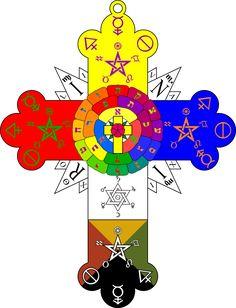 Rose Cross Lamen - Hermetic Order of the Golden Dawn - Wikipedia, the free…