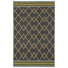 Found it at AllModern - Nomad Charcoal Geometric Area Rug