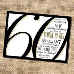 Gloria 60th Birthday Invitation by HenryLondon on Etsy