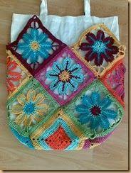 crochet mexican flower bag