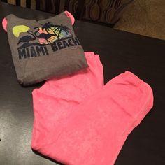 Ocean drive hoodie and pants Ocean drive clothing co hoody and pants Miami beach  hoody neon 5ed239207