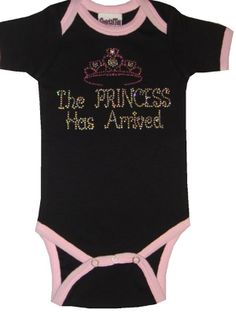 The Princess Has Arrived onesie is a new arrival to SugarBabies! Toddler Outfits, Girl Outfits, Space Outfit, Take Home Outfit, Beautiful Baby Girl, Special Delivery, Little Fashionista, Lace Romper, Baby Bedroom