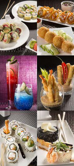 Ваби-Саби ресторан. Фотосъемка блюди коктейлей для нового меню ресторана. Фуд-стилист и фотограф Слава Поздняков.