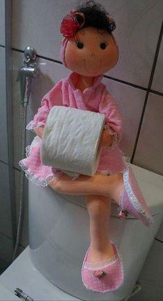 Meu Mundo Craft: Boneca segura papel higiênico