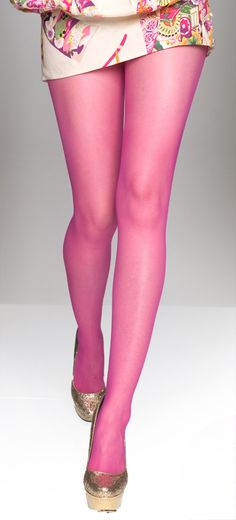 I'm strangely intrigued by the idea of sheer hot pink tights . . .