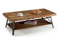 Premium Cocktail Table  Coffee Sofa Accent Home Living Room Furniture Wood with Shelf for Extra Storage Crafted Industrial Chic Design ** You can find out more details at the link of the image.Note:It is affiliate link to Amazon. #StunningLivingRoom