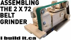 Assembling The 2 X 72 Belt Grinder Knife Grinding Jig, Knife Grinder, Knife Sharpening, 2x72 Belt Grinder Plans, Father Daughter Love Quotes, Blacksmith Power Hammer, Tool Band, Wood Tools, Diy Tools