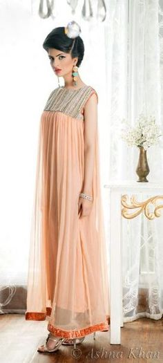 Beautiful peach anarkali