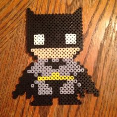 Batman perler beads by peacelovepauline