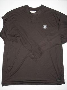 2b972267 Peyton Hillis Cleveland Browns #40 Practice Worn & Signed Brown Reebok XXL  Long Sleeve Shirt