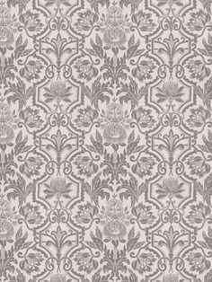 Jardinage Graphite is a perfect mix of grey florals from The New York Botanical Garden Collection by Vervain Dry Goods, Traditional Design, Botanical Gardens, Graphite, Damask, Upholstery, Fabrics, Tapestry, Urban