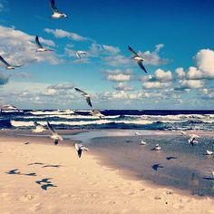 baltic sea in september, poland