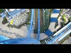 Griffon Front Row Seat on-ride widescreen POV Busch Gardens Williamsburg - we ONLY ride in the front on any coaster!