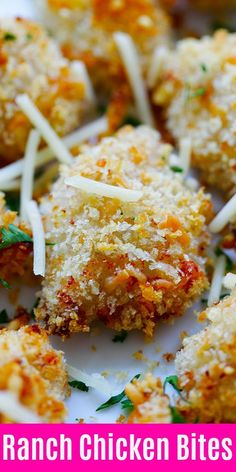 Ranch Chicken Bites - easy chicken nuggets recipe with ranch dressing, panko and Parmesan cheese. Homemade, crispy, moist and so good | rasamalaysia.com #chicken #appetizer